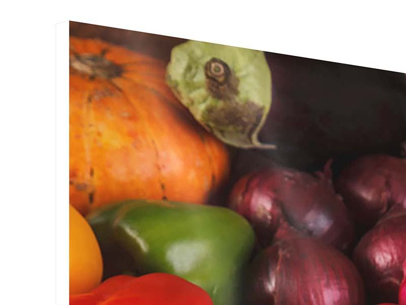 Hartschaumbild Frisches Gemüse