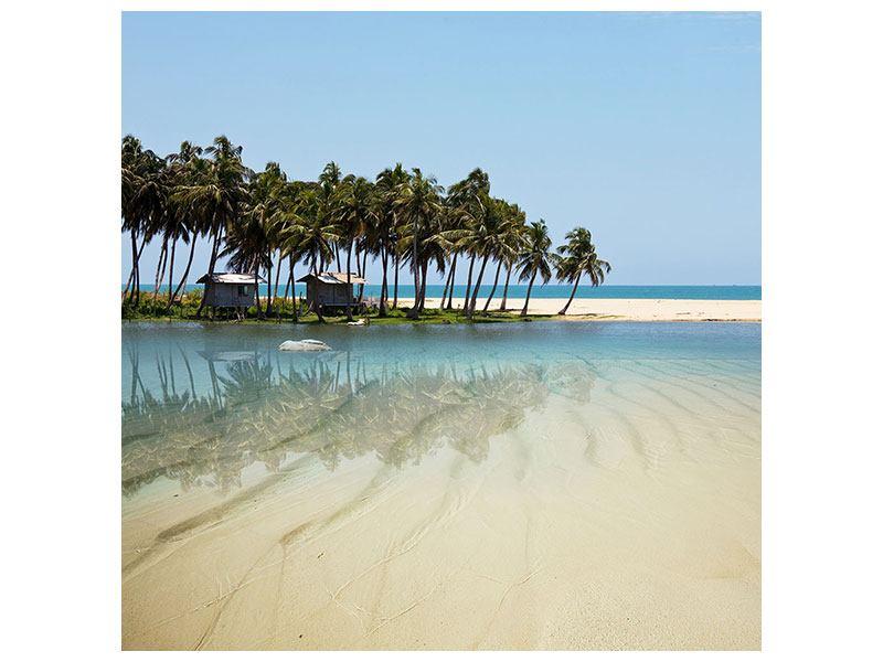 Hartschaumbild Das Meer und die Insel