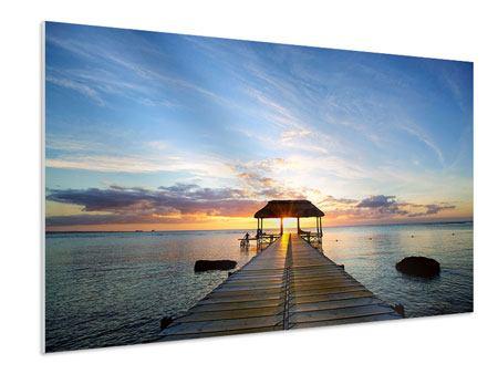 Hartschaumbild Romantik auf Mauritius