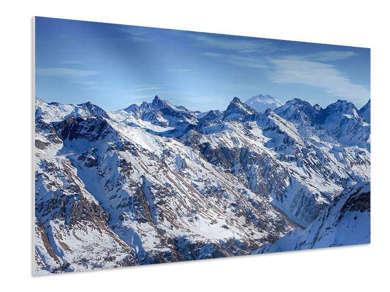 Hartschaumbild Gipfelspitzen