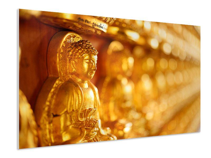 Hartschaumbild Buddhas