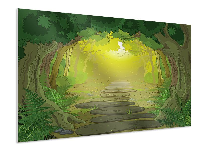 Hartschaumbild Der Märchenwald