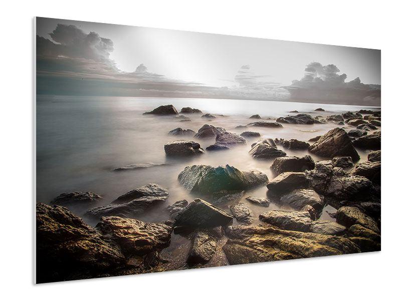 Hartschaumbild Steine am Strand
