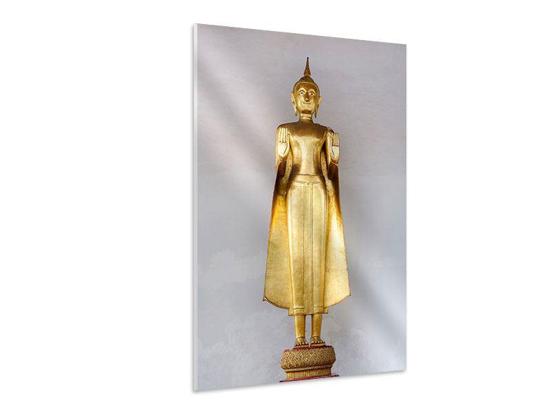 Hartschaumbild Goldener Buddha