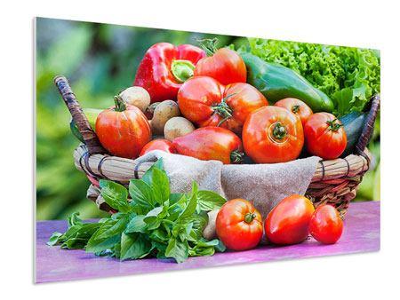 Hartschaumbild Gemüsekorb