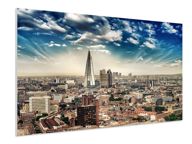 Hartschaumbild Skyline Über den Dächern von London