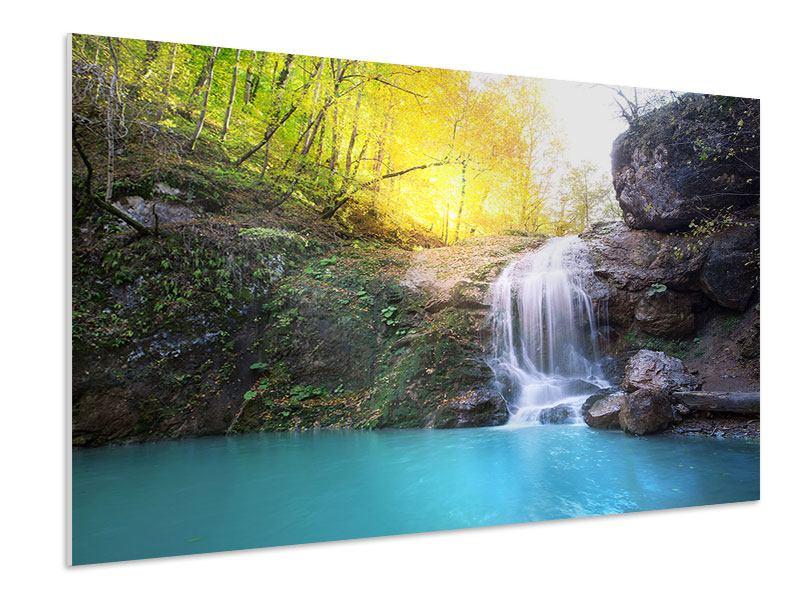 Hartschaumbild Fliessender Wasserfall