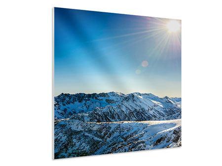 Hartschaumbild Berge im Schnee