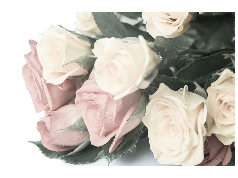 Hartschaumbild Rosenromantik