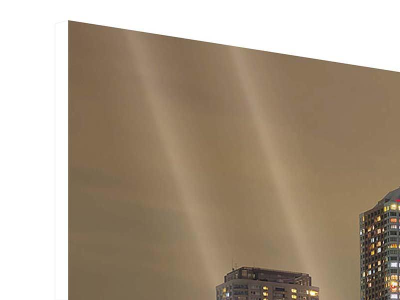 Hartschaumbild Skyline Tokio in der Nacht