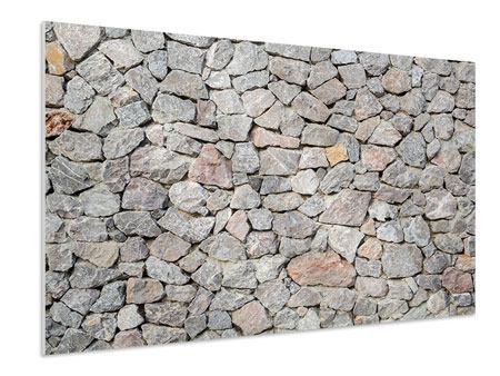 Hartschaumbild Grunge-Stil Mauer
