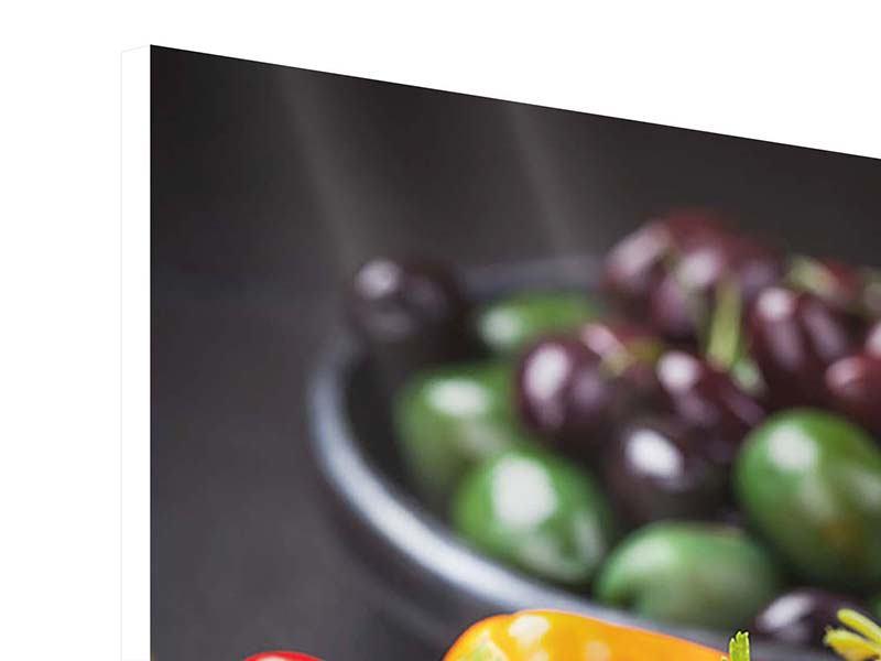 Hartschaumbild Gemüseschale