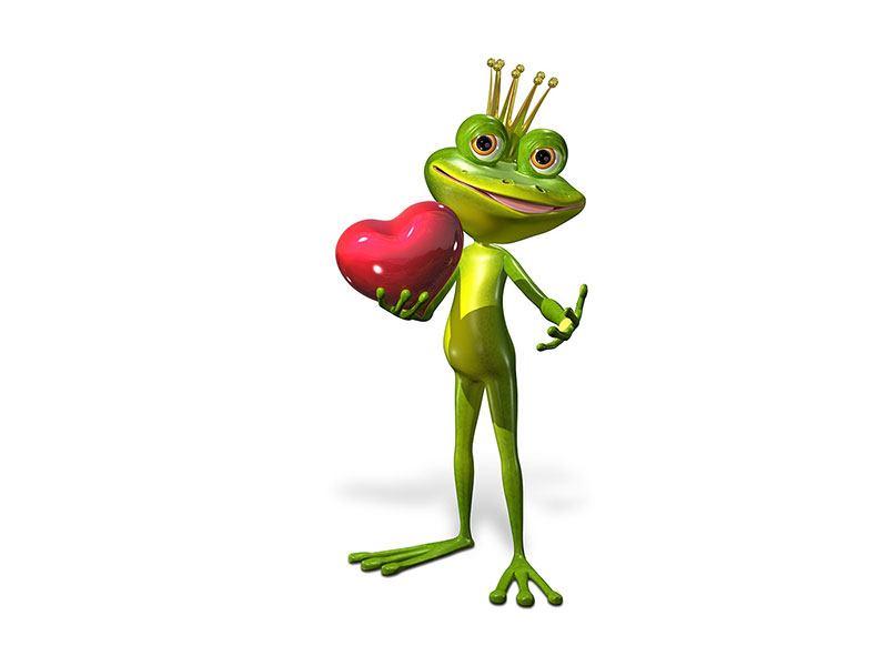 Hartschaumbild Froschkönig