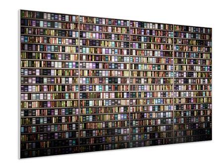 Hartschaumbild Bücherregal