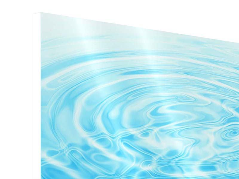 Hartschaumbild Abstraktes Wasserbad