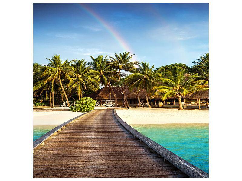 Hartschaumbild Inselparadies