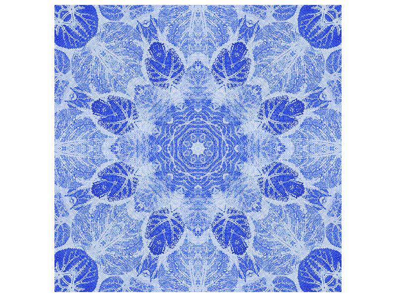 Hartschaumbild Blaues Ornament