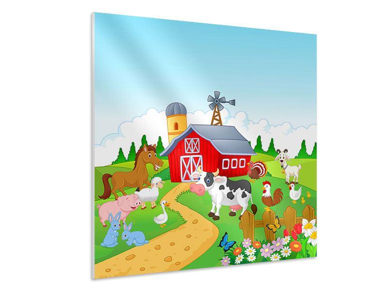 Hartschaumbild Der lustige Bauernhof