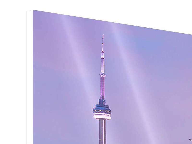 Hartschaumbild Skyline Toronto bei Nacht