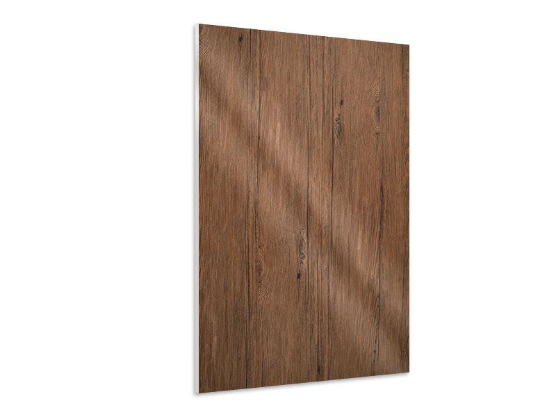Hartschaumbild Teak-Holz