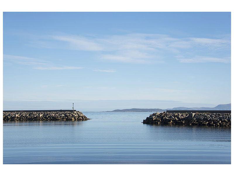 Hartschaumbild Hafenmauern