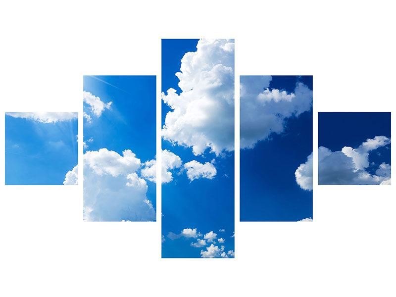 Hartschaumbild 5-teilig Himmelblau