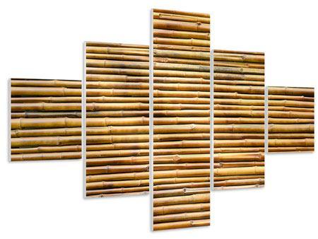 Hartschaumbild 5-teilig Bambus