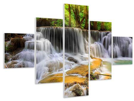 Hartschaumbild 5-teilig Nationalpark Si Nakharin