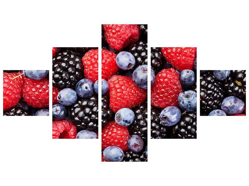 Hartschaumbild 5-teilig Beeren