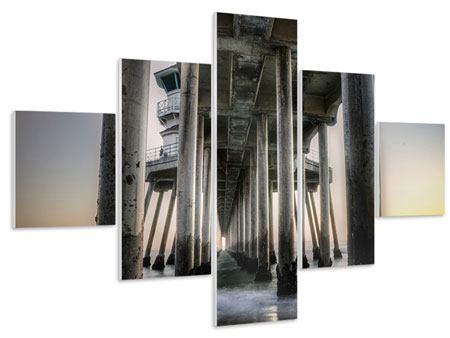 Hartschaumbild 5-teilig Brückenpfeiler