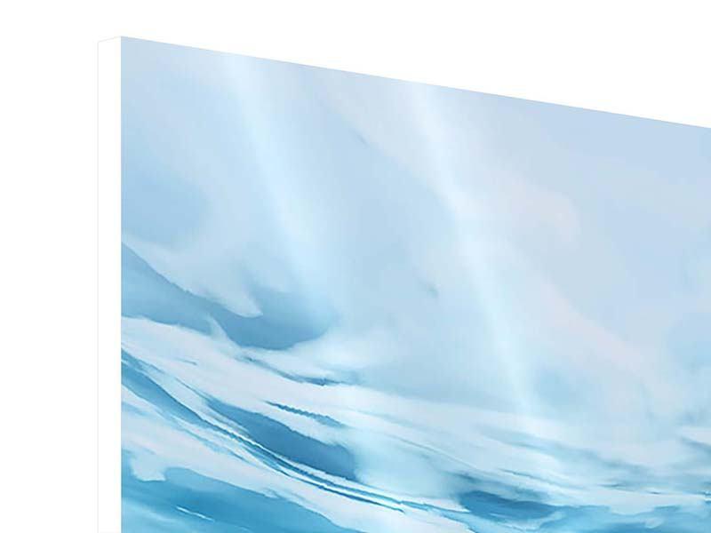 Hartschaumbild 5-teilig Lichtspiegelungen unter Wasser