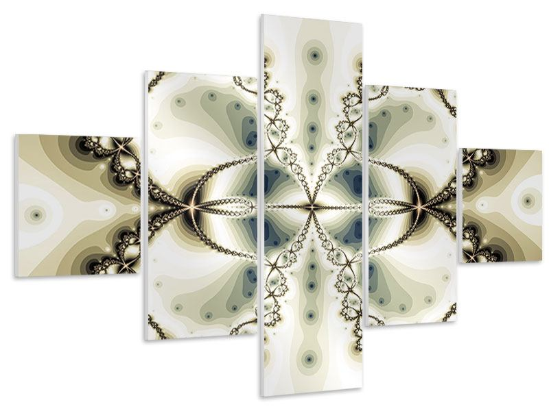 Hartschaumbild 5-teilig Abstrakter Schmetterling