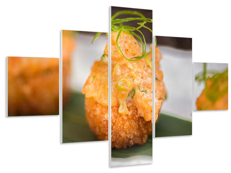 Hartschaumbild 5-teilig Asiatische Küche