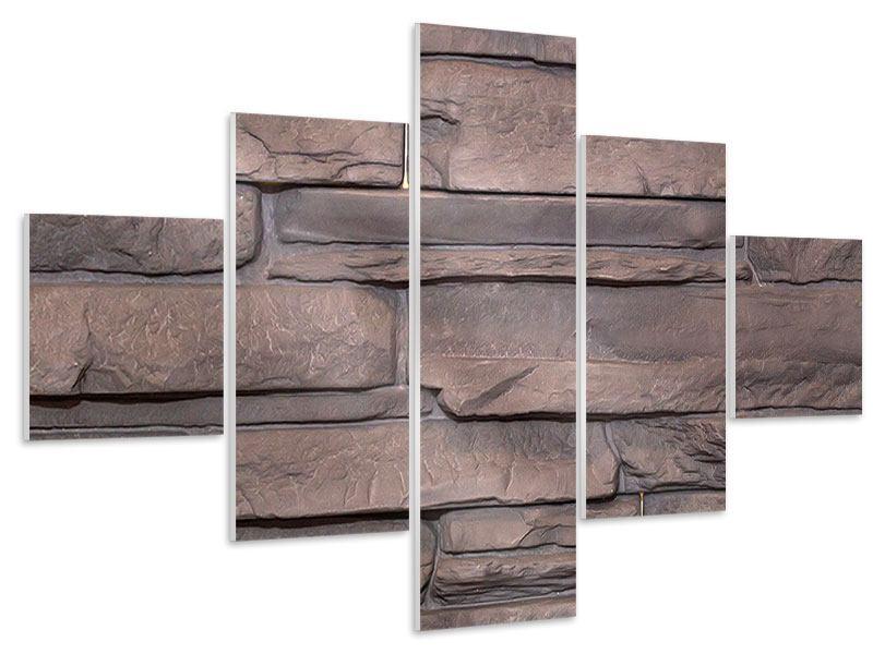 Hartschaumbild 5-teilig Luxusmauer