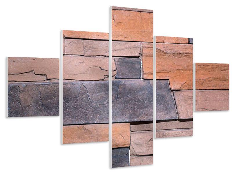 Hartschaumbild 5-teilig Wall