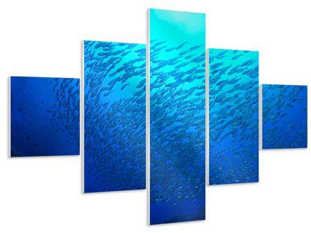 Hartschaumbild 5-teilig Fischwelt