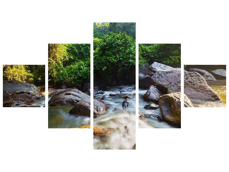 Hartschaumbild 5-teilig Das Gewässer
