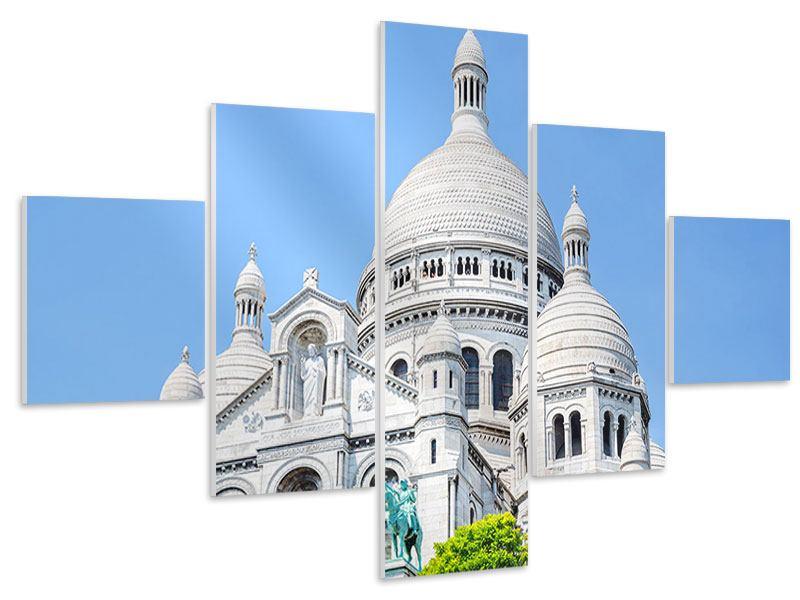 Hartschaumbild 5-teilig Paris- Montmartre
