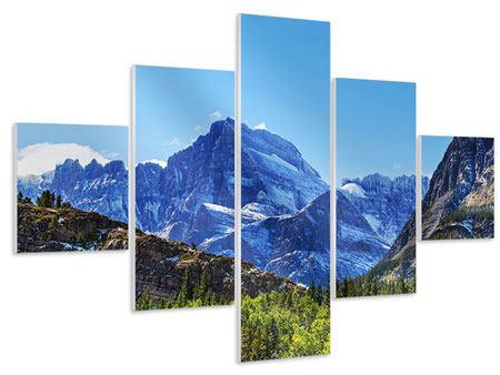 Hartschaumbild 5-teilig Dem Gipfel entgegen