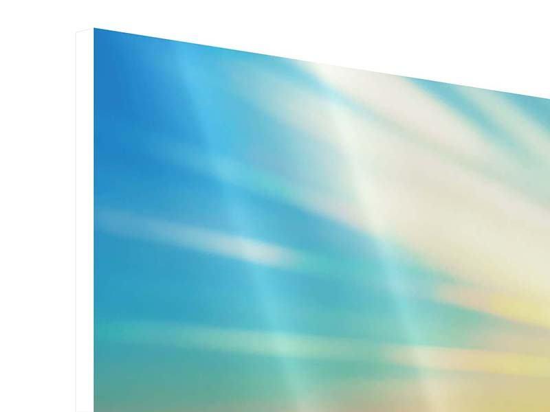 Hartschaumbild 5-teilig Sonnenuntergang über den Wolken