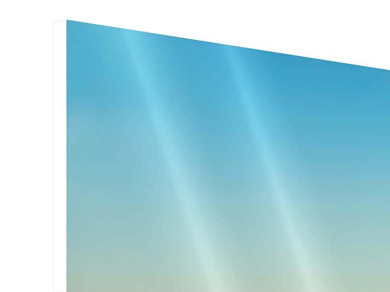 Hartschaumbild 5-teilig Dämmerung über den Wolken