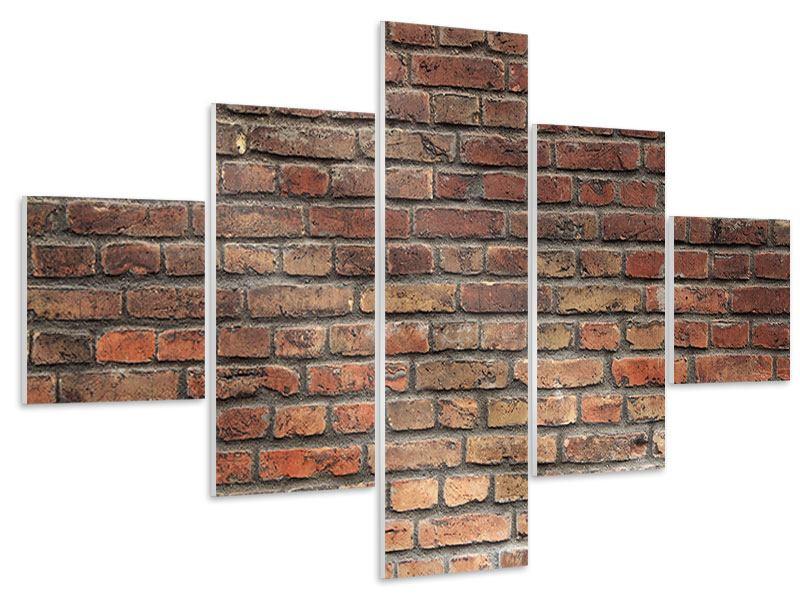 Hartschaumbild 5-teilig Brick Wall