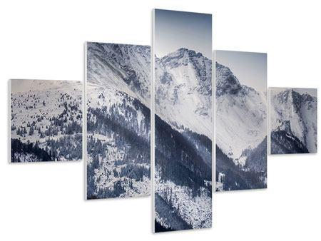 Hartschaumbild 5-teilig Die Berge der Schweiz