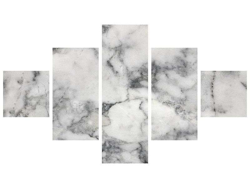 Hartschaumbild 5-teilig Klassischer Marmor