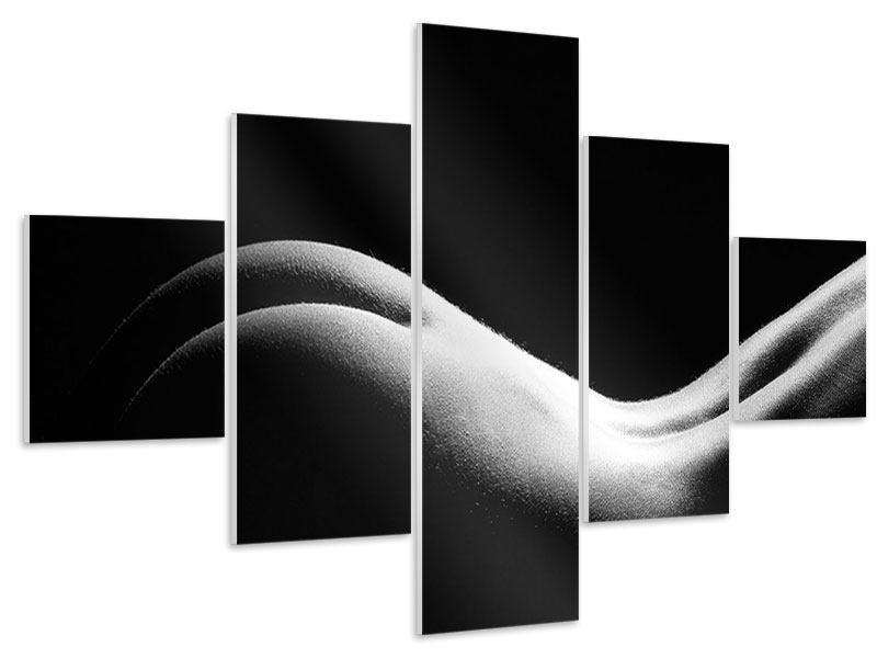 Hartschaumbild 5-teilig Nude