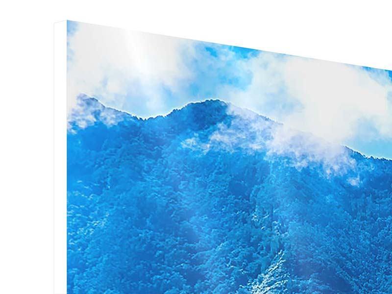 Hartschaumbild 5-teilig Die Berglandschaft