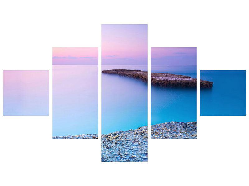 Hartschaumbild 5-teilig Unendlicher Ozean