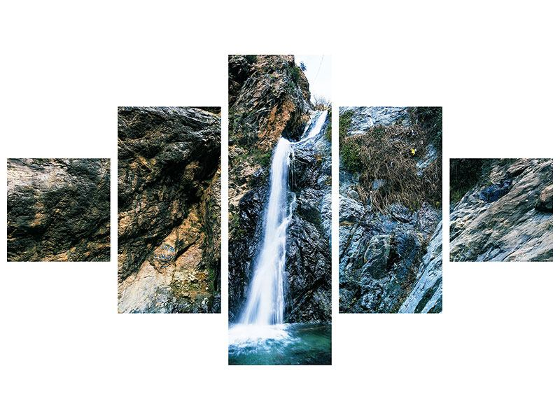 Hartschaumbild 5-teilig Bewegtes Wasser