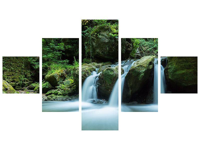 Hartschaumbild 5-teilig Fallendes Wasser