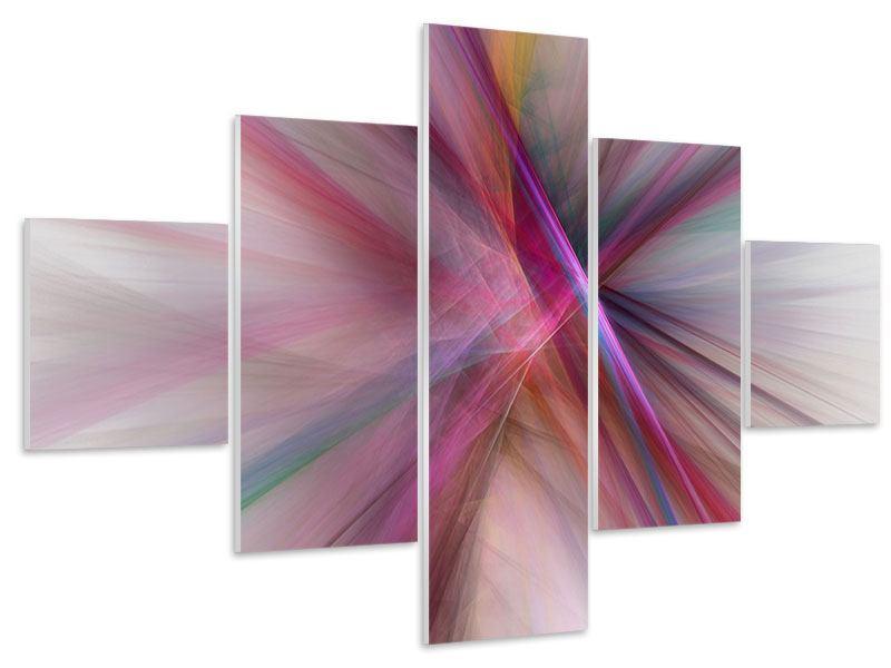 Hartschaumbild 5-teilig Abstraktes Lichterleuchten
